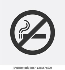 No smoking area. Cute vector sign
