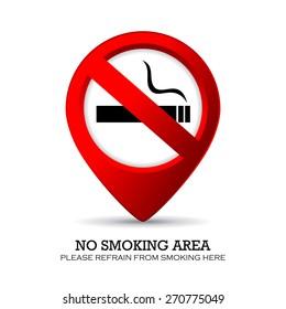 No smoking area marker