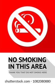 No smoking area new poster, vector illustration for print