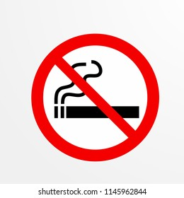 no smoking, caution warn symbol for public transport areas to do not do that. vector logo, sign, symbol