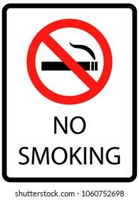 No Smoking cigarettes sign. vector illustration EPS