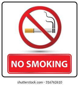 no smoking danger signs Illustration vector
