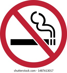 NO SMOKING ,Draw from Vector Illustration