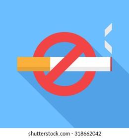 No smoking icon. Flat Design vector icon