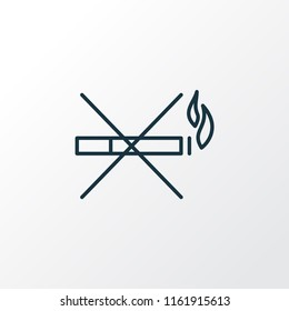 No smoking icon line symbol. Premium quality isolated stop cigarette element in trendy style.