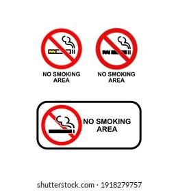No smoking icon in trendy flat design