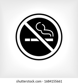 No Smoking Icon. Universal Interface Element, Sign and Symbol - Vector.