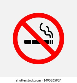 No Smoking Icon - Vector, Sign and Symbol for Design, Presentation, Website or Apps Elements.