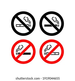 No smoking icon vector in trendy flat design