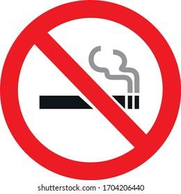 No smoking illustration eps 10