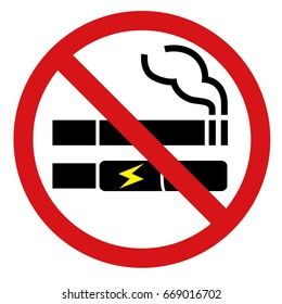 No Smoking including electronic cigarettes sign.