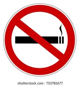 No smoking prohibiting sign