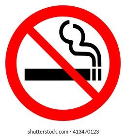 No smoking, prohibition sign, vector illustration.