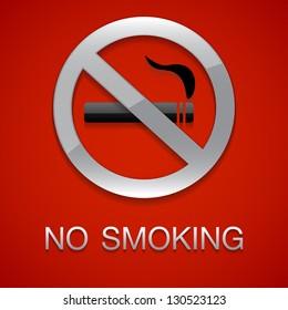 No smoking red background