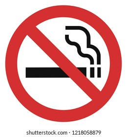 No smoking red icon. Simple illustration of no smoking red vector icon for web design isolated on white background