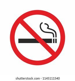 No smoking sign. Forbidden icon. Vector