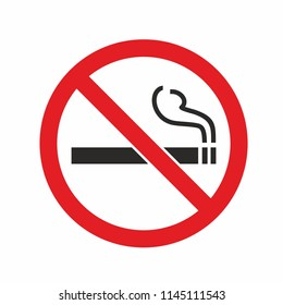 No smoking sign. Forbidden icon. Sticker Vector