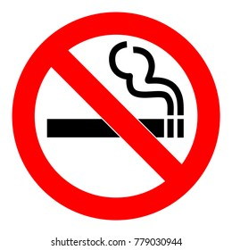 No smoking  sign. Forbidden sign icon isolated on white background vector illustration