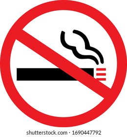 No smoking sign. Health care, fire caution symbol. Perfect for backgrounds, backdrop, sticker, label, poster, icon, sign, symbol, banner and wallpapers.