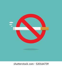 No smoking sign icon design vector