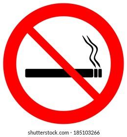 No smoking sign icon on white background.