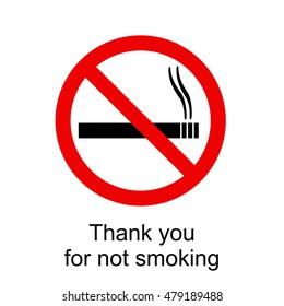 No smoking sign illustration on a white background