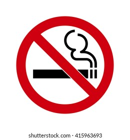 No smoking Sign isolated on white background. No smoke symbol for your web site design, app, UI. Vector illustration, EPS10.