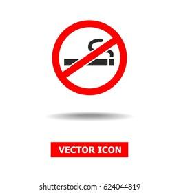 No smoking Sign isolated on white background.