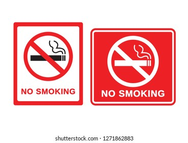 No smoking sign on white background. vector illustration.