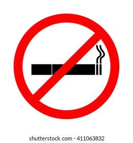 No smoking sign on white background , stop smoking, No Smoking Vector Illustration.
