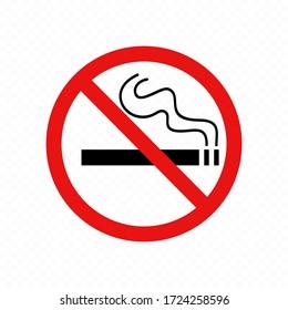 No smoking sign. Premium vector.