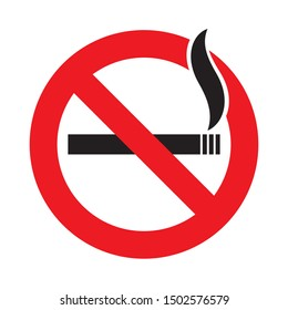 No smoking sign in red and black vector easy to use