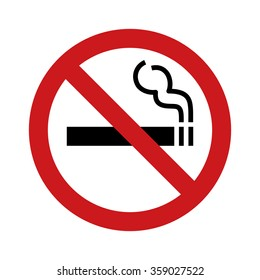No smoking sign / symbol flat vector icon for websites and print