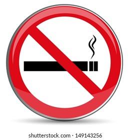 No Smoking Sign, vector