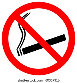 no smoking sign - vector - eps 10