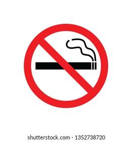 No Smoking Sign in vector format