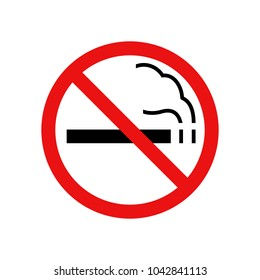 No smoking sign, Vector illustration for Your design,