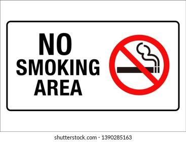 No smoking sign ,vector illustration