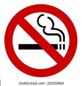 no smoking sign - vector illustration