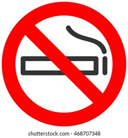 No smoking sign. Vector illustration on white background.