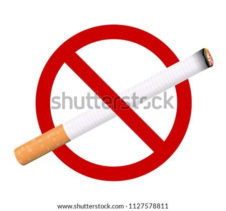Congratulate, No smoking sign vector think, that