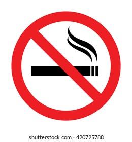 No smoking sign.Vector illustration