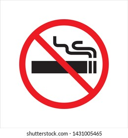 No smoking in trendy flat style design. Vector graphic illustration. Suitable for website design, logo, app, and ui. EPS 10.