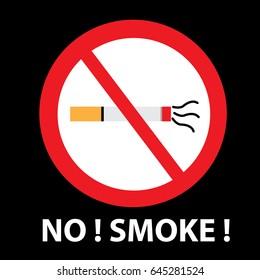 No Smoking Vector Background