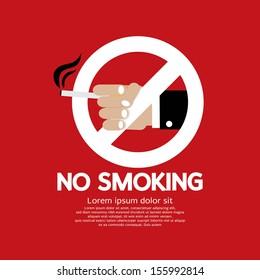 No Smoking Vector Illustration EPS10