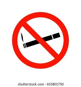 No smoking warning icon