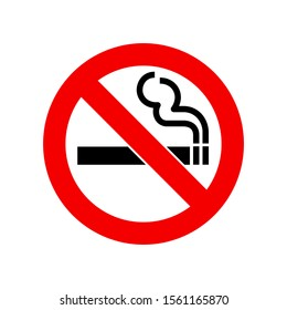 No Smoking Warning Sign Icon Vector isolated on white