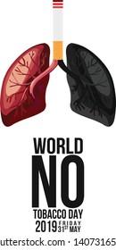 No smoking and World No Tobacco Day, - Vector
