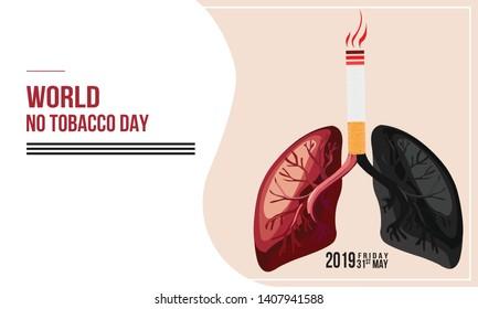 No smoking and World No Tobacco Day. - Vector