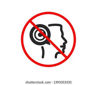 No or Stop. Copyrighter icon. Writer person sign. Copywriting symbol. Prohibited ban stop symbol. No writer icon. Vector